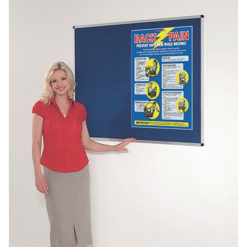 Fire resistant premium office noticeboards - blue