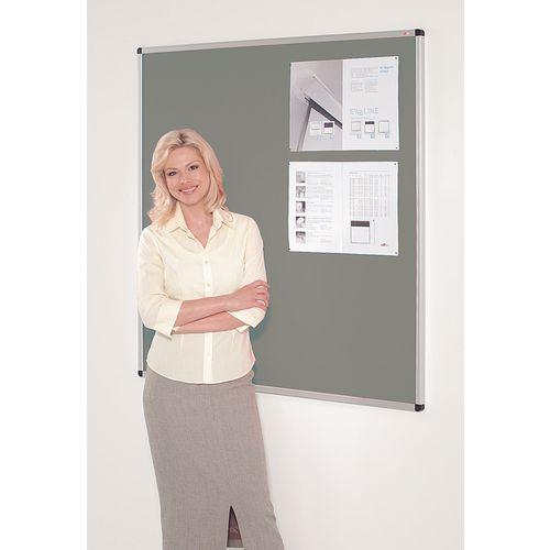 Fire resistant premium office noticeboards - grey