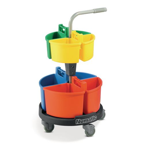 Numatic cleaning carousel trolley