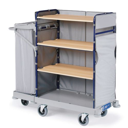 Detachable three sided maid service trolley