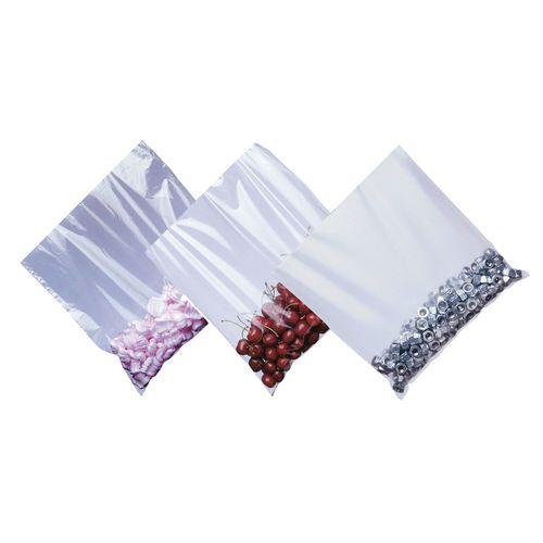 Plain polythene bags, W x L - 254 x 305mm heavyweight