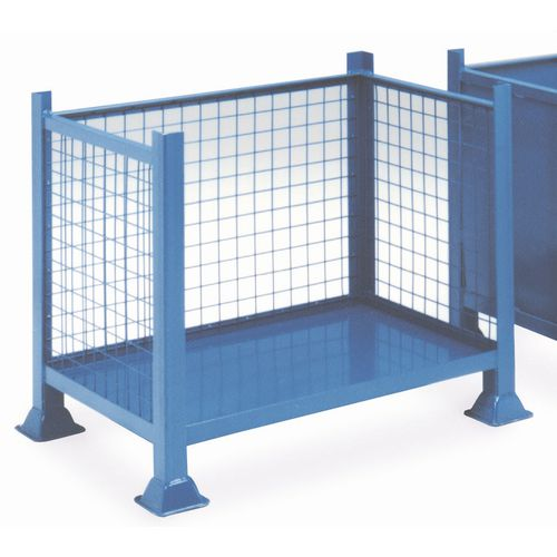Steel box pallets with open front - Mesh sides