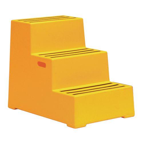 Safety Step Plastic Yellow Three Step Step Stools