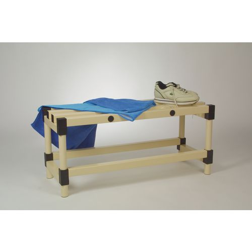 Plastic cloakroom and changing room - Bench - Cream