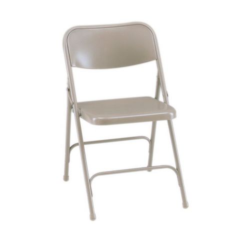 Steel folding chairs with upholstery - set of 4