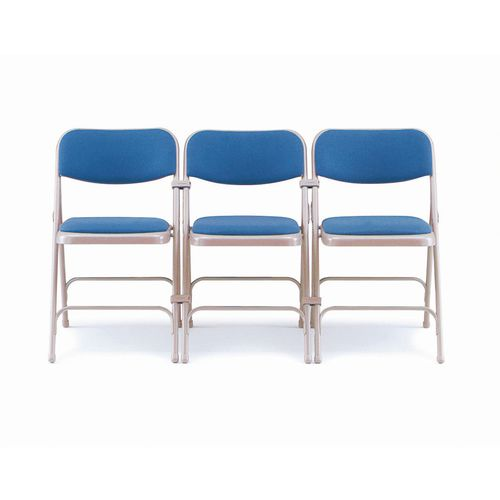 Steel folding chairs - set of 4