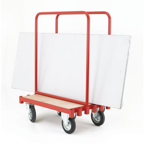 Sheet carrying truck with steel supports