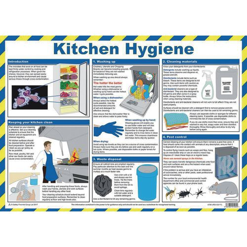 Poster - Kitchen Hygiene For Caterers - 59 X 42Cm - First ...