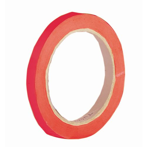 Tape coloured vinyl red w mm rolls carton tapes