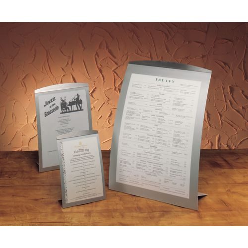 Table Top Display Table top poster frames - silver