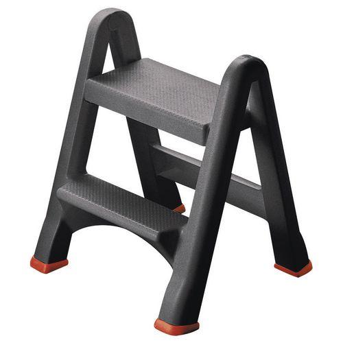 Folding plastic step up stool