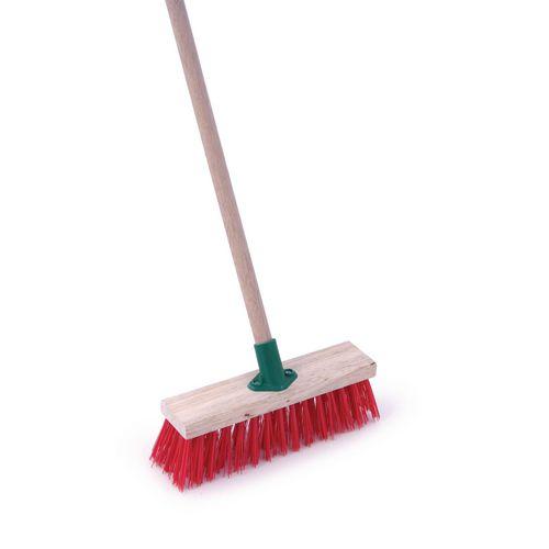 "PVC heavy duty brush and handle 11"""