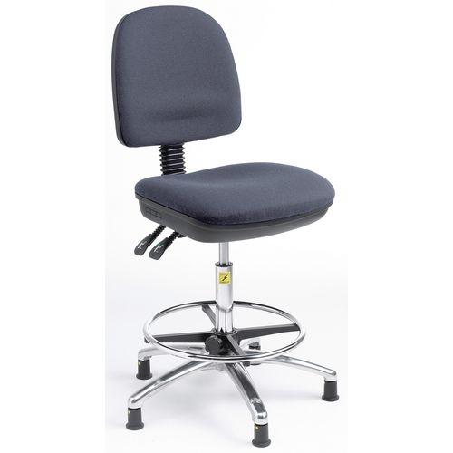 Ergonomic anti-static chair - High chair (height - 500-690mm) - charcoal fabric
