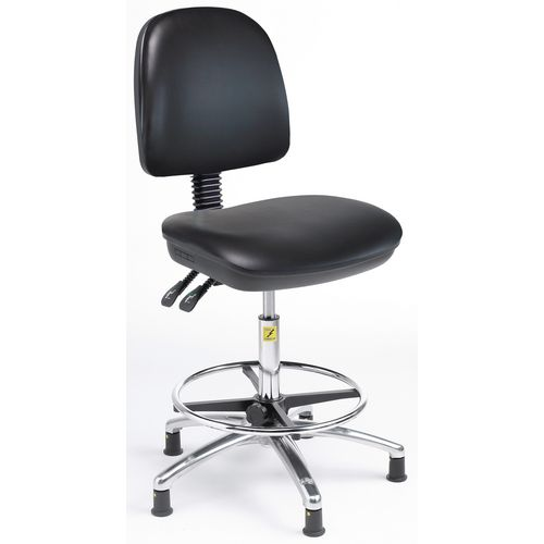 Ergonomic anti-static chair - High chair (height - 500-690mm) - black fabric