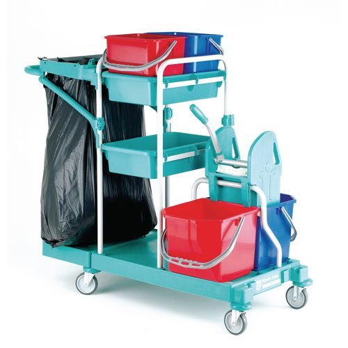 Basic cleaning mop trolley
