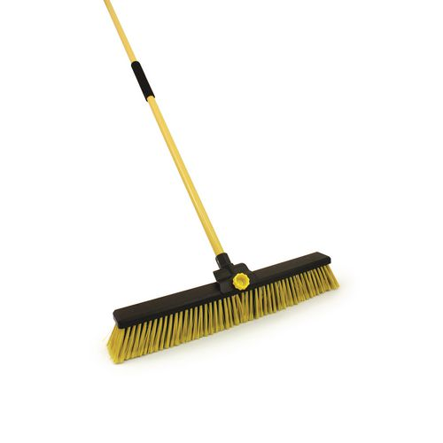 Heavy duty broom with metal handle