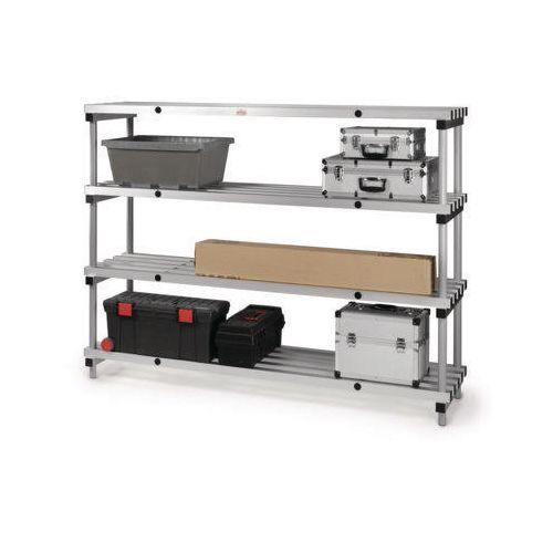 Anodised aluminium shelving - up to 480kg - Static Units