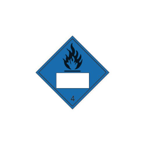 Un placards in accordance with the international maritime dangerous goods - Flammable 4