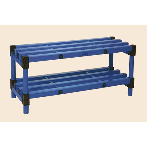 Plastic cloakroom and changing room - Bench - Blue