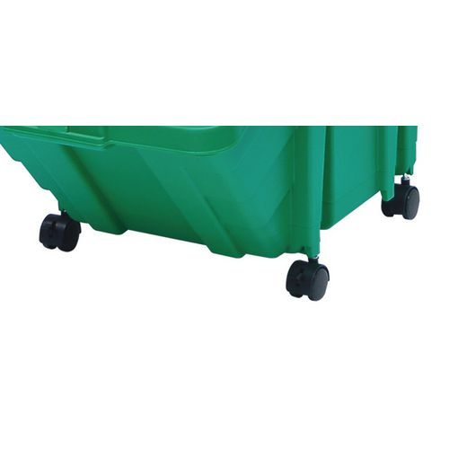 Large storage bins castor set