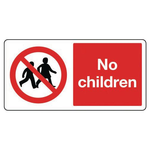 Large signs - No children