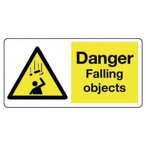 Large signs - Danger falling objects