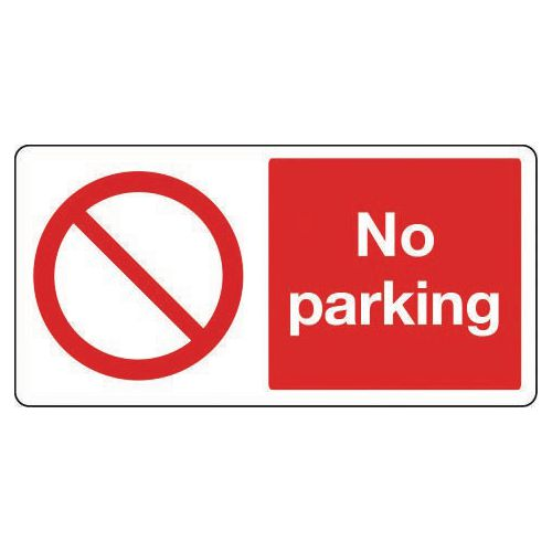 Large signs - No parking