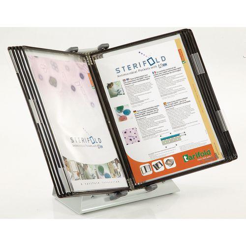 Tarifold anti-microbial wall unit - desk stand