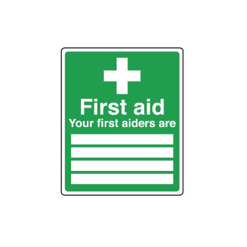 Safe condition and first aid signs - Your first aiders are