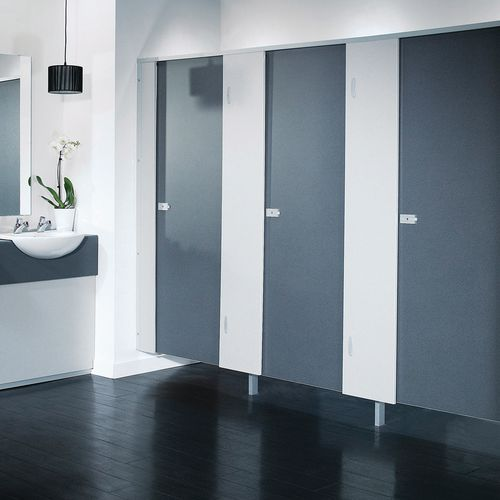 Washroom Cubicle - Partition kit only (Box B), Light grey speckled