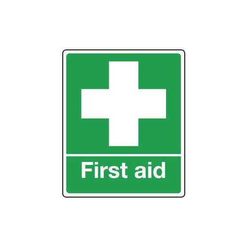 Safe condition and first aid signs - First aid sign - pictorial and text