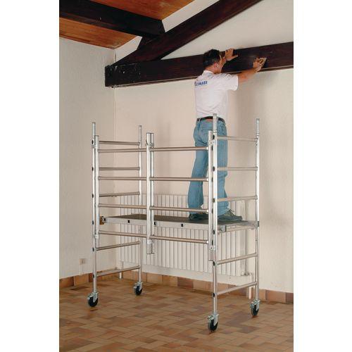 Folding mobile work platform and tower - Standard platform - platform height 950mm