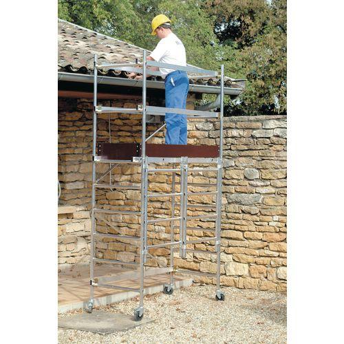 Folding mobile work platform and tower - Standard platform with additional kit to give platform height 1800mm
