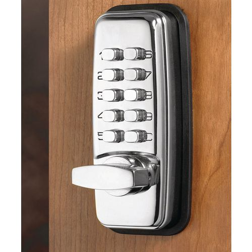 Mechanical push button digital cabinet lock