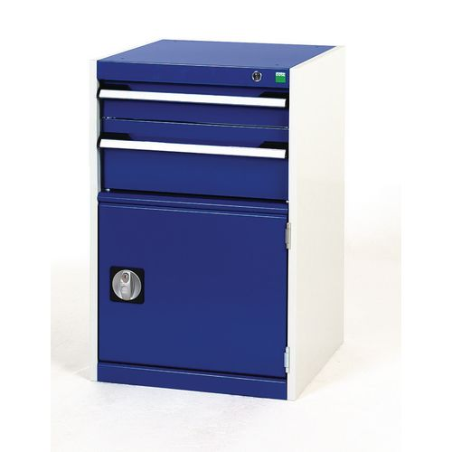 Tool Boxes Bott heavy duty drawer cabinets, 1 x 100mm and 1 x 175mm drawers, 1 x 400mm cupboard