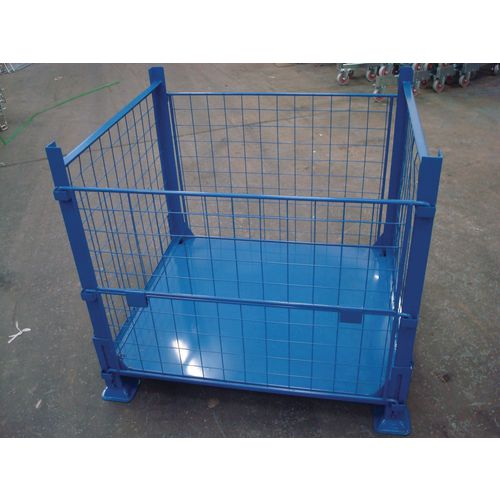 Collapsible steel cage pallet