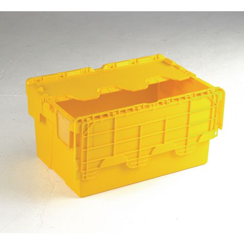 Yellow Attached Lidded Box 600 X 400 X 310 Mm Attached