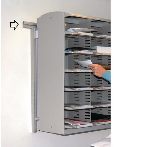 Wall mounting kit for superior sort unit