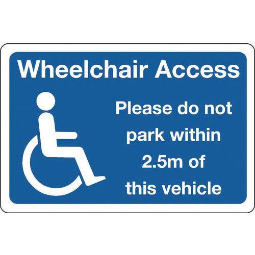 Sign wheelchair access