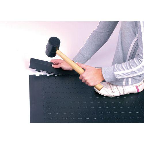 Corners for 7mm studded floor tiles - dark grey