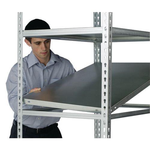 Standard duty galvanised steel boltless shelving - up to 250kg - Additional shelves