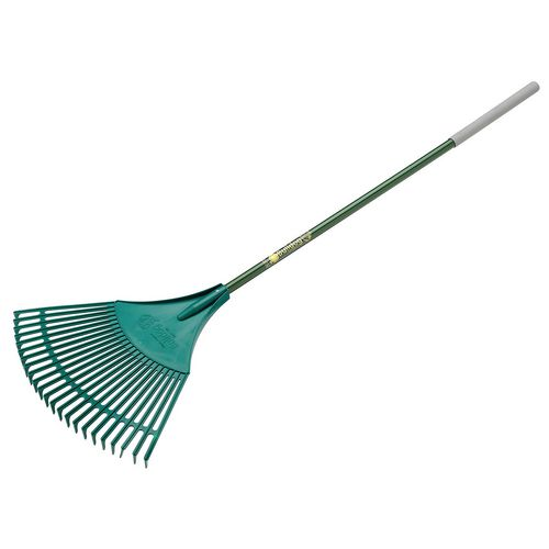"Litter Picker EVERGREEN PLASTIC LEAF RAKE 48"" ALUMINIUM"
