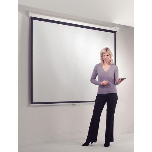 Standard wall projection screens