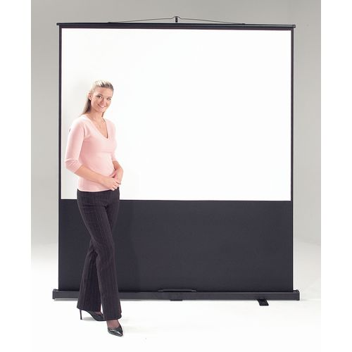Screens LEADER PORTABLE FLOOR SCREEN - VIDEO FORMAT - WHITE CLOTH, BLACK CASE WXDXH: 70 X 1535 X 2100