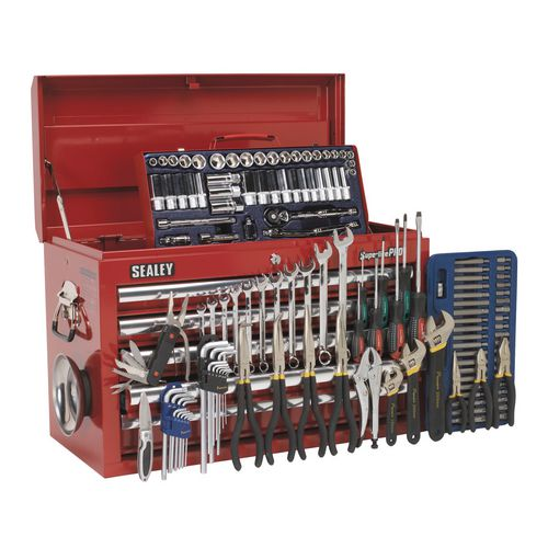 Tool Boxes TOPCHEST 5 DRAWER - BALL BEARING RUNNERS - RED WITH 137PC TOOL KIT
