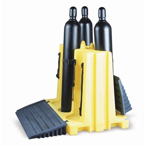 Polyethylene gas cylinder racks