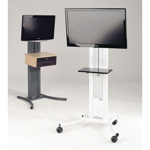 LCD and plasma mobile stand - mobile stand - white