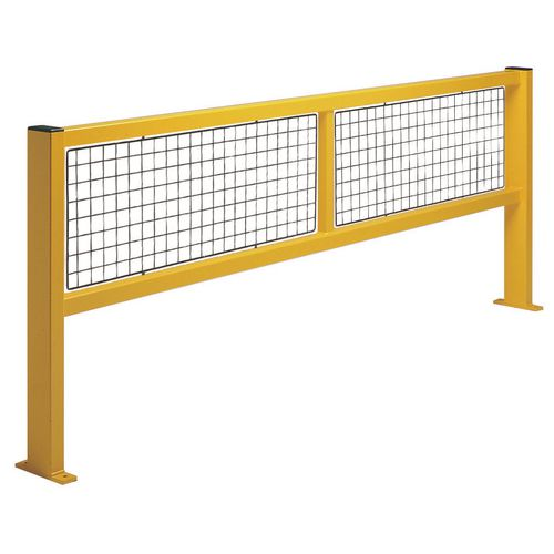 Safety barriers - Straight barrier with mesh