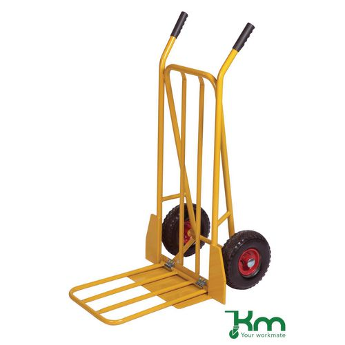 Konga heavy duty sack truck with fixed and folding footirons, capacity 250kg