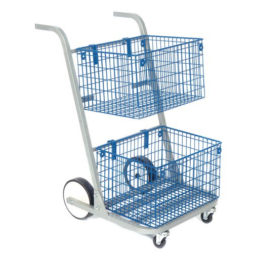 Mailroom trolleys - large mail distribution trolley